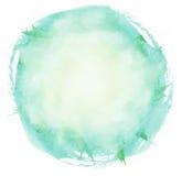 El cepillo brillante de la acuarela frota ligeramente el círculo Imagen de archivo libre de regalías