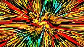 El cepillo caótico coloreado psicodélico del mosaico del fondo del extracto del ejemplo del ordenador frota ligeramente los cepil ilustración del vector