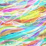 El cepillo colorido de la acuarela frota ligeramente el fondo Fotografía de archivo libre de regalías