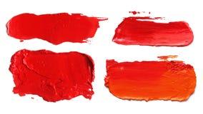 El cepillo de acrílico abstracto del color frota ligeramente manchas blancas /negras Imagen de archivo