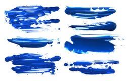 El cepillo de acrílico abstracto del color frota ligeramente manchas blancas /negras Aislado Foto de archivo