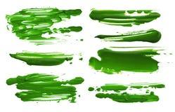 El cepillo de acrílico abstracto del color frota ligeramente manchas blancas /negras Aislado Imagenes de archivo