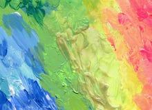 El cepillo de acrílico del color abstracto frota ligeramente la pintura Foto de archivo libre de regalías