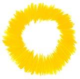 El cepillo de la acuarela frota ligeramente el círculo Imágenes de archivo libres de regalías