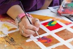 El cepillo de pintura Foto de archivo libre de regalías