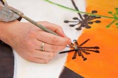 El cepillo de pintura Fotografía de archivo libre de regalías