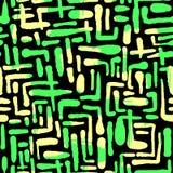 El cepillo de repetición inconsútil de la tinta de la materia textil frota ligeramente el modelo en el garabato g Imagenes de archivo