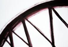 El cepillo dibuja un arco ancho y líneas estrechas Ayuda armoniosa del movimiento Ayuda del puente ilustración del vector