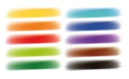 El cepillo frota ligeramente la bandera de las opciones de las acuarelas stock de ilustración