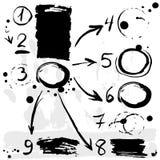 El cepillo frota ligeramente la bandera de las opciones del infographics Negro en el fondo blanco stock de ilustración