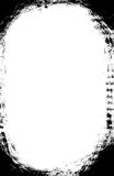 El cepillo oval oscuro frota ligeramente la frontera Imagen de archivo