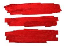 El cepillo rojo alimenta textura en el ejemplo blanco del vector del fondo Fotos de archivo libres de regalías