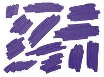 El cepillo violeta alimenta textura en el fondo blanco Imágenes de archivo libres de regalías