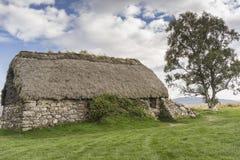 El cercado cubierto con paja en Culloden amarra en Escocia Imagen de archivo