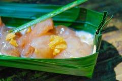 El cerdo del sagú de la comida de Sreet es postre delicioso imágenes de archivo libres de regalías
