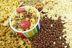 El cereal forma escamas para el desayuno Fotografía de archivo libre de regalías