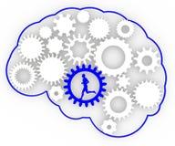 El cerebro del cuerpo adapta el funcionamiento del hombre de ideas Imagen de archivo libre de regalías