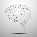 El cerebro poligonal ilustración del vector