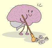 El cerebro se libra de innecesario ilustración del vector