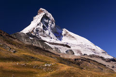 El Cervino, cerca de Zermatt, Suiza Imágenes de archivo libres de regalías
