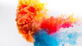 El cgi animó reflejado y la versión menos cosechada de colores rojos, amarillos y azules pinta el chapoteo metrajes