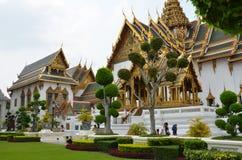 El Chakri Maha Prasat Throne dentro del palacio magnífico Fotografía de archivo