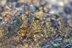 El Chalcocite, sulfuro del cobre (I) (Cu2S), es un mineral de cobre importante Imagen de archivo libre de regalías