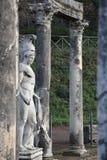 El chalet de Hadrian - el canal de Canopus, Tivoli, Italia Imagen de archivo libre de regalías