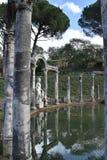El chalet de Hadrian - el canal de Canopus, Tivoli, Italia Fotos de archivo