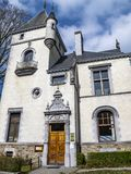 El chalet Lang en Malmedy, Bélgica construyó en 1901, fachada fotografía de archivo libre de regalías
