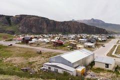 El Chalten城市 免版税库存图片