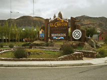 El Chalten,世界遗产名录,在阿根廷。 免版税库存照片