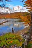 在El Chalten,阿根廷巴塔哥尼亚的费兹罗伊山 库存照片