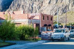 EL CHALTEN, ARGENTINA - MARCH 13, 2015: La Comarca hostel in El Chalten village, Argentin. A royalty free stock photo
