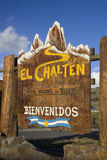 El Chalten city Monument Sign Royalty Free Stock Photography