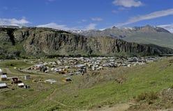 EL Chalten dans le Patagonia Photographie stock