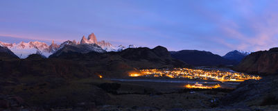 El Chalten and Fitz Roy Stock Image