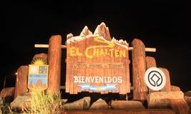 El Chalten at night stock images