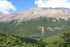 El Chalten  - Patagonia. Mountain and blue lake. El Chalten (Argentina's Trekking Capital) - Patagonia Royalty Free Stock Photo