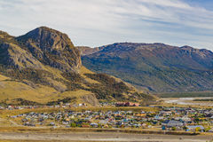El Chalten Town Aerial View.Patagonia - Argentina Stock Photo