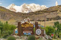 El Chalten Town Entrance, Patagonia - Argentina Stock Images