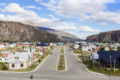 El Chalten village in Argentina. El Chalten, small mountain village in Santa Cruz Province within the Los Glaciares National Park at the base of Fitz Roy Royalty Free Stock Photography