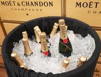 El champán de Moet y de Chandon presentó en el centro nacional del tenis durante el US Open 2016 Imagen de archivo