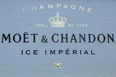 El champán de Moet y de Chandon presentó en el centro nacional del tenis durante el US Open 2016 Imagenes de archivo