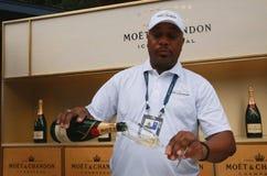El champán de Moet y de Chandon presentó en el centro nacional del tenis durante el US Open 2016 Fotografía de archivo libre de regalías