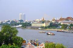 El Chao Praya River en Bangkok Foto de archivo libre de regalías