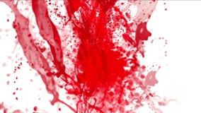 el chapoteo líquido de la sangre 4k, gotita del descenso del agua, fuegos artificiales de la fuente de las partículas salpica stock de ilustración