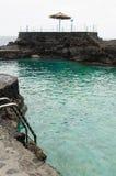 El charco azul,蓝色水池,拉帕尔玛岛海岛,西班牙 免版税库存图片