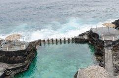 El charco azul,蓝色水池,拉帕尔玛岛海岛,西班牙 库存图片