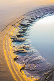 El charco en la playa Imágenes de archivo libres de regalías